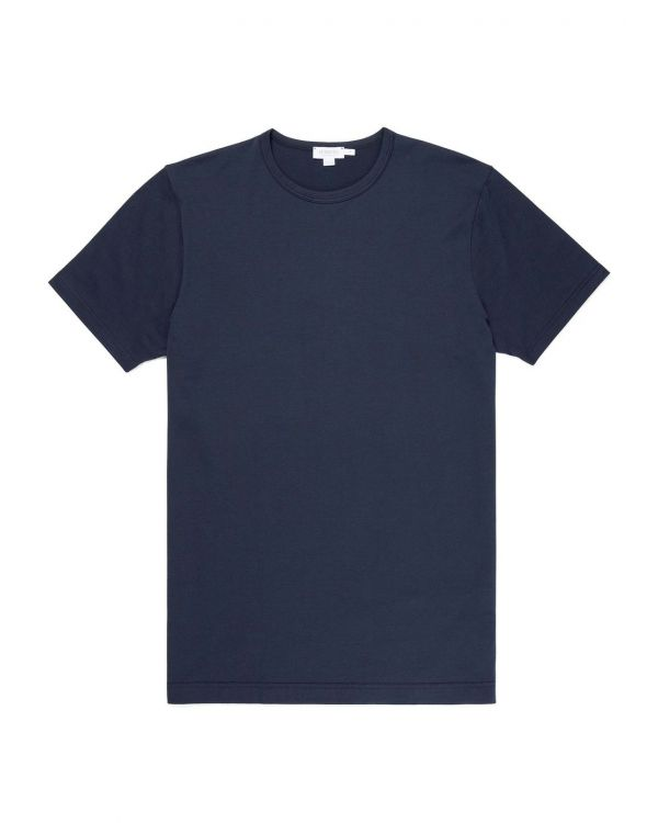 Men's Classic Cotton T-Shirt in Navy