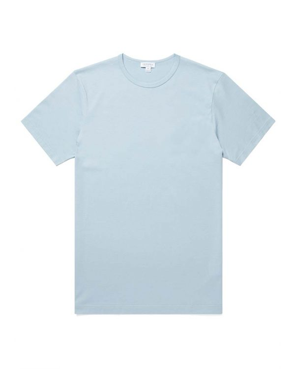 Men's Classic Cotton T-Shirt in Blue Jeans