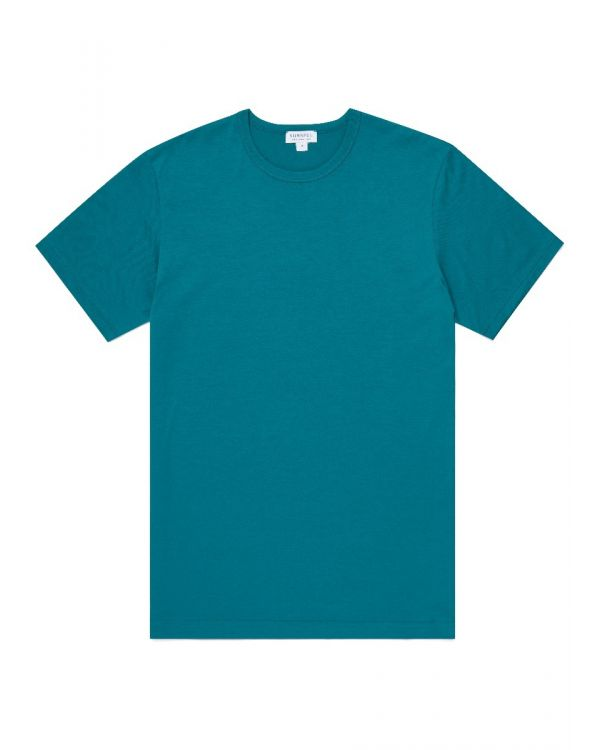 Men's Classic Cotton T-Shirt in Bright Petrol