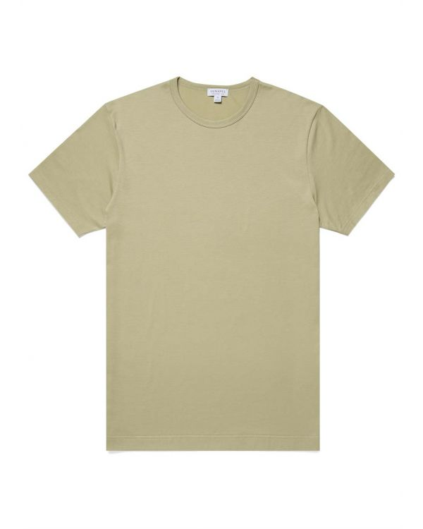 Men's Classic Cotton T-Shirt in Pistachio