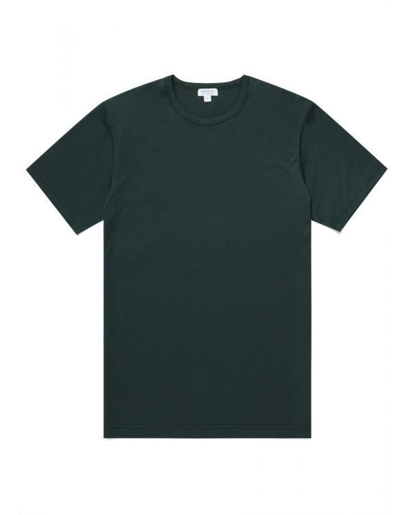 Men's Classic Cotton T-Shirt in Forest