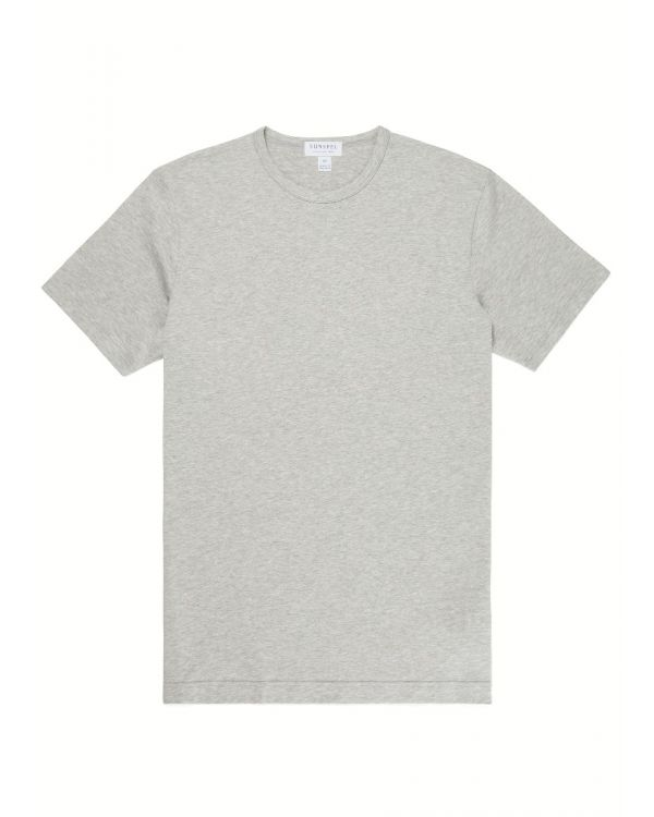 Men's Classic Cotton T-Shirt in Grey Melange