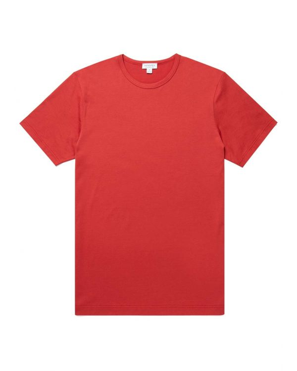 Men's Classic Cotton T-Shirt in Cherry Red