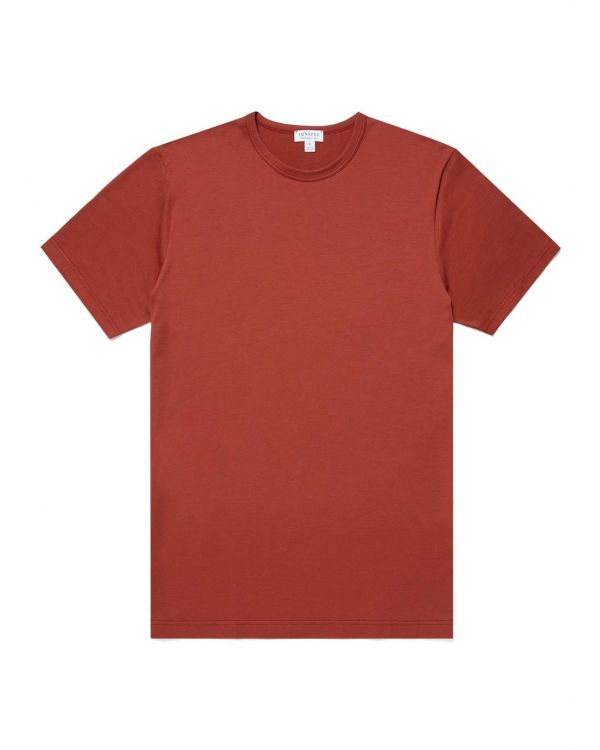 Men's Classic Cotton T-Shirt in Brick