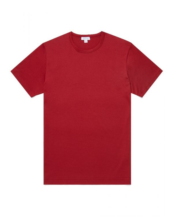 Men's Classic Cotton T-Shirt in Berry Red