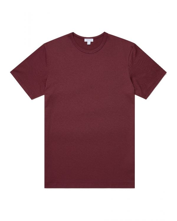 Men's Classic Cotton T-Shirt in Oxblood