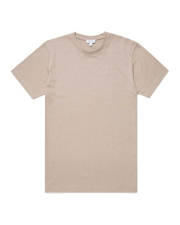 Men's Organic Cotton Riviera T-Shirt in Taupe Melange