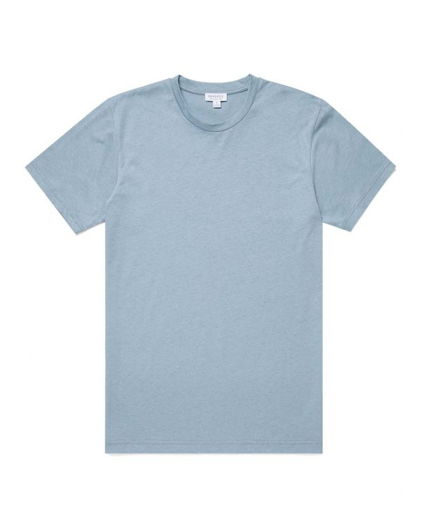 Men's Organic Cotton Riviera T-Shirt in Blue Steel Melange