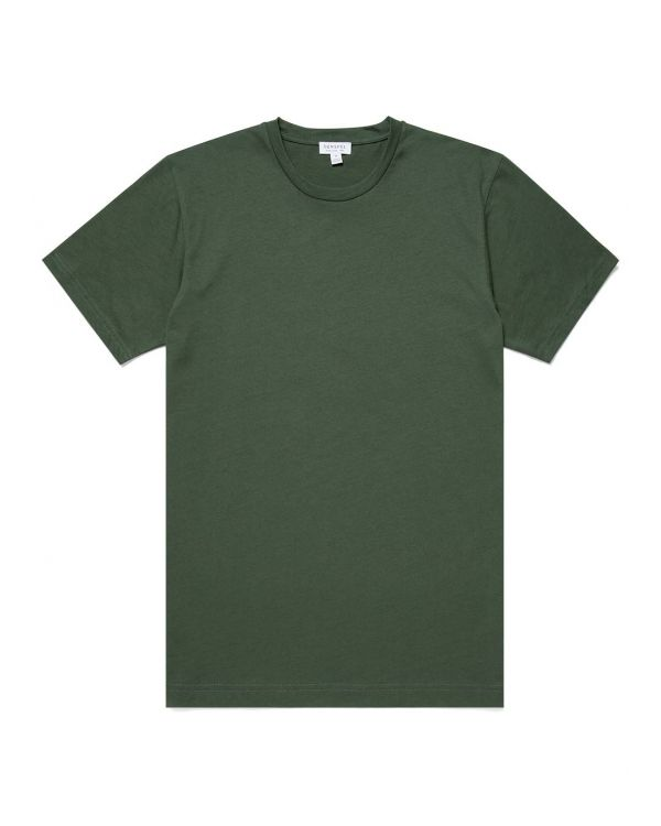 Men's Organic Cotton Riviera T-Shirt in Pine Melange