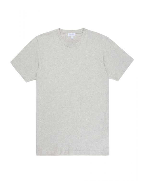 Men's Organic Cotton Riviera T-Shirt in Grey Melange
