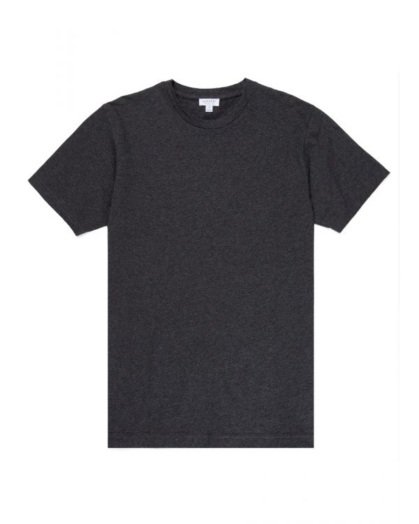 Men's Organic Cotton Riviera T-Shirt in Charcoal Melange