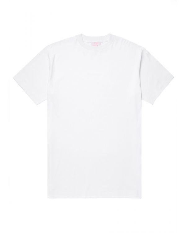 Beams and Sunspel Men's Brushed Cotton Oversized T-Shirt in White