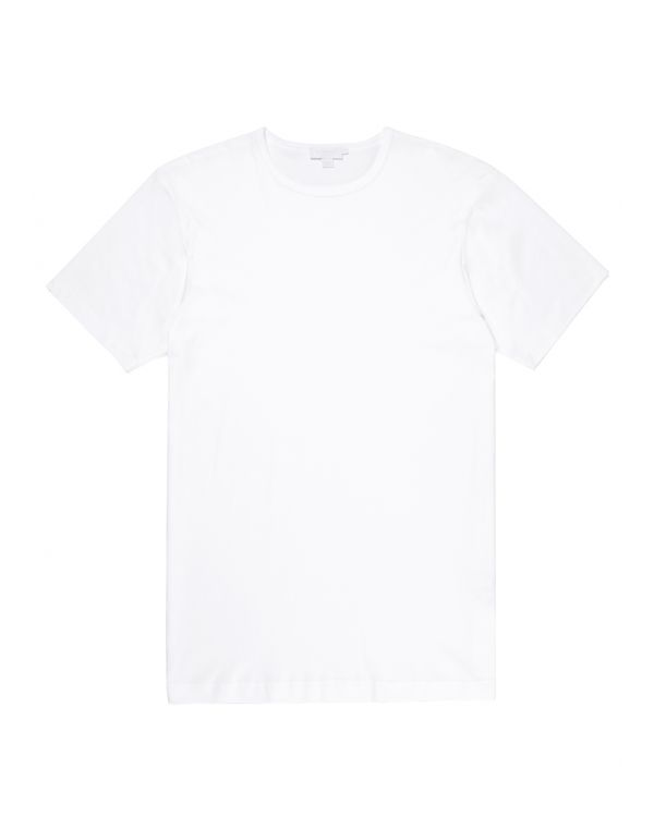 Men's Sea Island Cotton Underwear T-Shirt in White