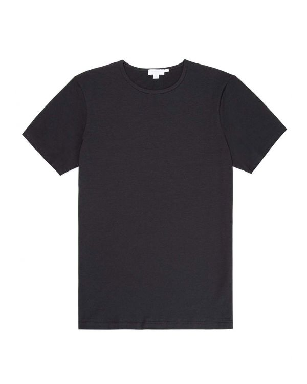 Men's Stretch Cotton Underwear T-Shirt in Black
