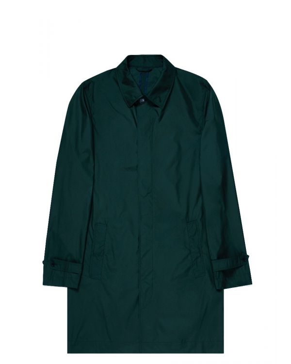 Paul Weller for Sunspel Men's Recycled Polyester Mac in Bottle Green