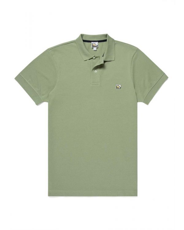Paul Weller for Sunspel Men's Cotton Piqué Polo Shirt in Avocado