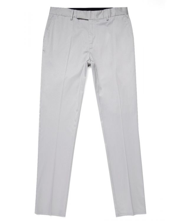 Paul Weller for Sunspel Men's Pima Cotton Straight Leg Trouser in Light Grey