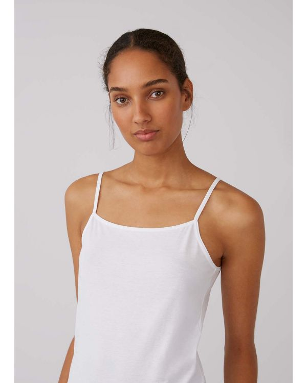 Women's Superfine Cotton Cami in White