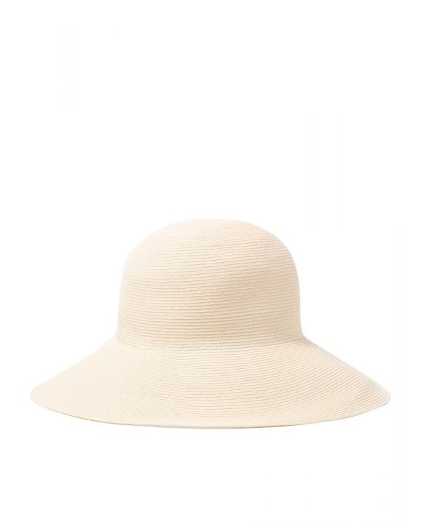 Kijima Takayuki and Sunspel Wide Brim Paper Hat in Natural