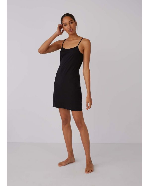 Women's Superfine Cotton Slip in Black