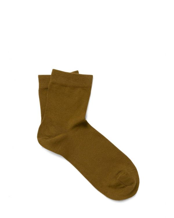 Women's Cotton Ankle Socks in Olive
