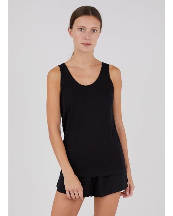 Women's Superfine Cotton Tank Top in Black