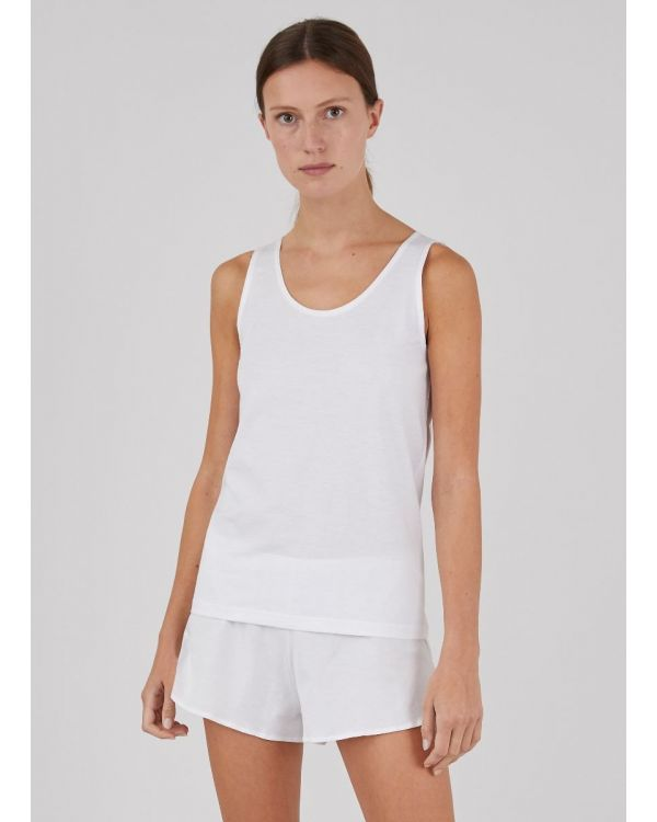 Women's Superfine Cotton Tank Top in White
