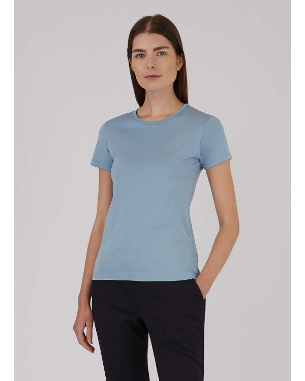 Women's Classic Cotton T-Shirt in Blue Steel