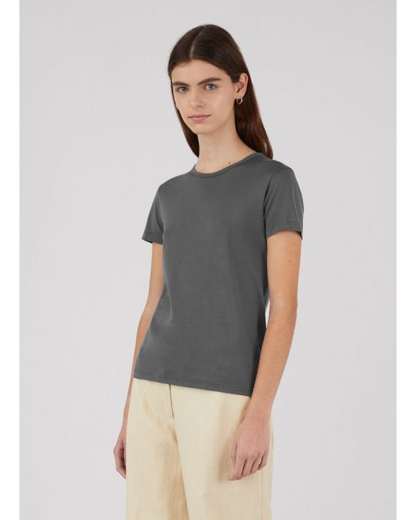 Women's Classic Cotton T-Shirt in Lead
