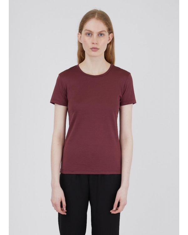 Women's Classic Cotton T-Shirt in Oxblood