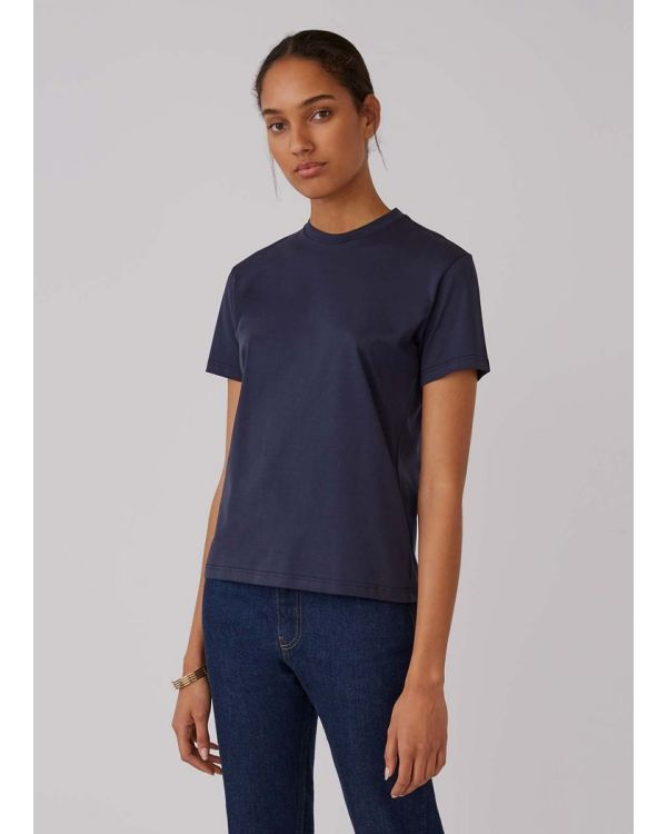 Women's Organic Cotton Boy Fit T-Shirt in Navy