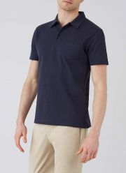 Men's Cotton Riviera Polo Shirt in Navy - front model shot
