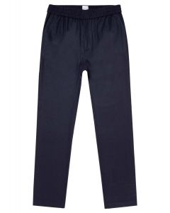 Men's Wool Cashmere Flannel Drawstring Trouser in Navy