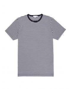 Men's Classic Cotton T-Shirt in Navy/White English Stripe