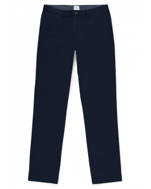 Men's Cotton Chino Trousers in Navy