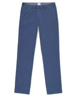 Men's Cotton Twill Chino Trouser in Pewter