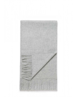 Woven Cashmere Scarf in Grey Melange