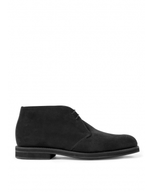 Men's Suede Ankle Boot in Charcoal