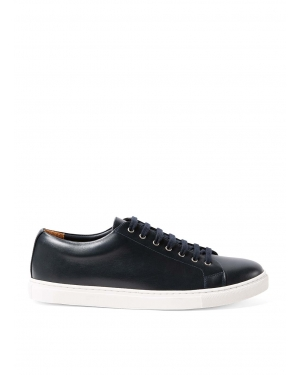 Men's Leather Tennis Shoes in Navy