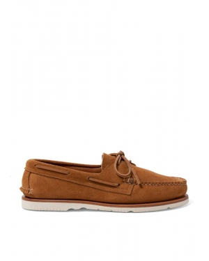 Men's Sunspel and Sperry Suede Authentic Original Boat Shoe in Sand