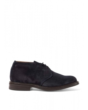 Men's Sunspel and Trickers Suede Ankle Boot in Navy