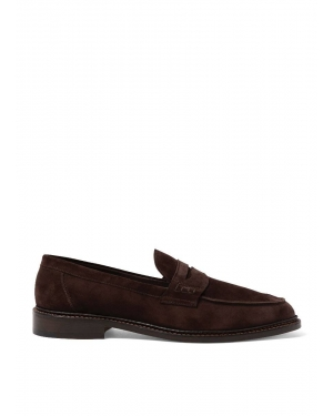 Men's Sunspel and Trickers Suede Loafer in Brown