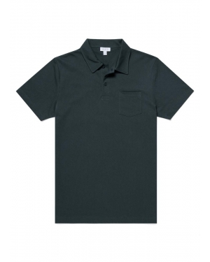 Men's Cotton Riviera Polo Shirt in Forest