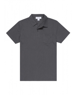 Men's Cotton Riviera Polo Shirt in Charcoal