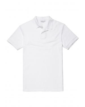 Men's Cotton Cellulock Buttonless Polo Shirt in White