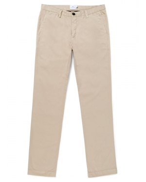 Men's Cotton Slim Fit Chino Trousers in Light Stone