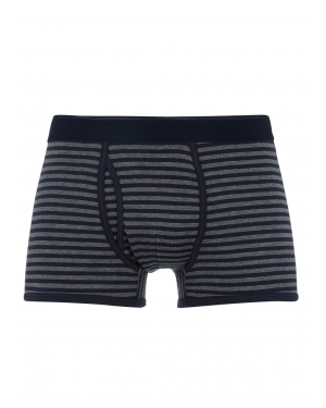 Men's Superfine Cotton Trunks in Charcoal/Navy