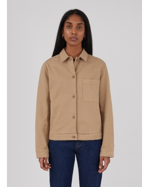 Women's Cotton Drill Chore Jacket in Stone
