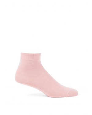 Women's Cotton Donegal Ankle Sock in Blush Marl