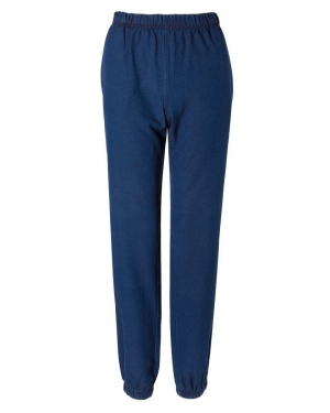 Women's Washed Cotton Tapered Trouser in Indigo